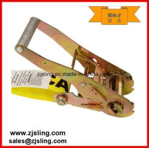 """En12195-2 2"""" Double J Hook Ratchet Strap 2"""" X 12′ Yellow pictures & photos"""