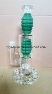 $20 Exclusive Grenade Glass Water Pipe Smoking Pipe with Heavy Bullet Base pictures & photos