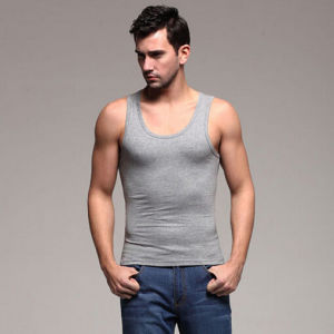 100% Cotton Jersey Blank Sleeveless T-Shirts/Vest/Tank Tops pictures & photos