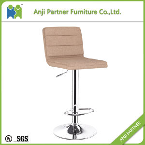 Low Price Modern Comfortable Fabric Cover, Foam Inside Bar Stool Chair Legs (Wukong) pictures & photos