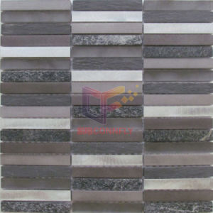 Strip Aluminium and Slate, Quatz Mixed Mosaic Tiles (CFA103) pictures & photos