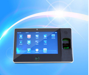 7 Inch Touch Screen USB-Host WiFi Biometric Terminal Fingerprint Time Attendance with 300, 000 Pixels Camera pictures & photos