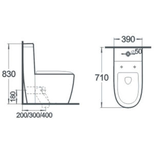 Siphonic Sanitary Ware Wc Bathroom Wc Ceramic Toilet pictures & photos