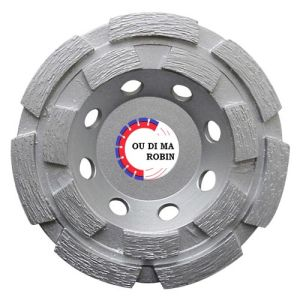 Cold-Pressed Double Rows Cup Grinding Wheel pictures & photos
