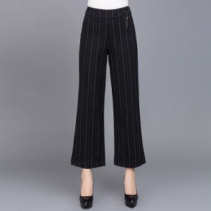 New Design Stripe Casual Women Skinny Dress Pants pictures & photos