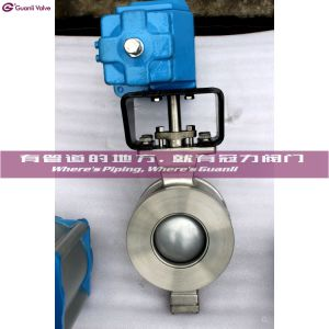 Flange Type Pneumatic V Segment Ball Valve pictures & photos