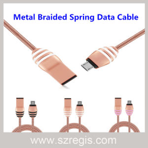 New Hornet Zinc Alloy Metal Spring USB Data Cable pictures & photos