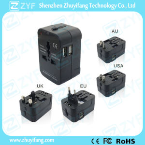 Dual USB Port Universal Travel Charging Adapter (ZYF7005) pictures & photos