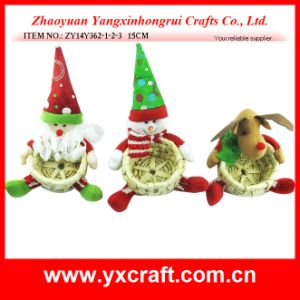 Christmas Decoration (ZY11S84-1-2) Christmas Kep Gift Basket Christmas Wicker Basket Flower Basket pictures & photos
