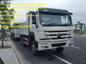 New Face 2017 New HOWO 6X4 10tires Tipper Truck with Front Lifting 18cbm Bucket of 371HP White Color pictures & photos