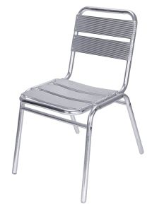 Armless Stackable Aluminum Outdoor Dining Garden Leisure Chairs (JJ-A04)