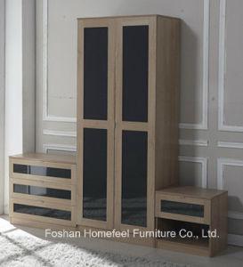 New Design High Gloss Bedroom Wardrobe Trio Set pictures & photos
