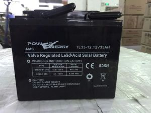 12V 33ah Sealed Lead Acid Maintenance Free UPS Solar Battery pictures & photos