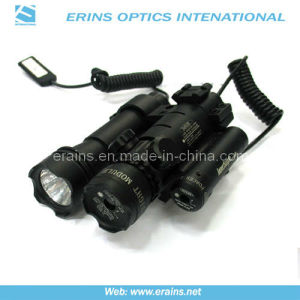Green Laser Sight with Mounted Red Laser Scope and Attached Tactical Flashlight in Hernia Yellow Lamp pictures & photos