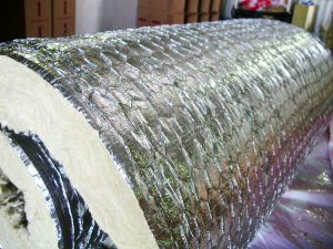 Rock Wool Blanket with Aluminum Foil and Wire Mesh on One Side pictures & photos