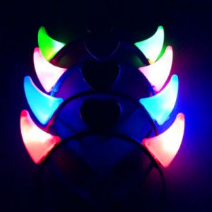LED Light up Flashing Small Devil Horn pictures & photos