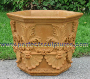 Stone Marble Flower Planter for Garden Ornament (QFP331) pictures & photos