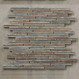Natural Slate Strips Tile for Decoration Wall