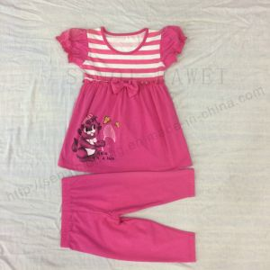 Flower Children Clothes in Kids Suit with Print in 70% Pant Sq-6661 pictures & photos