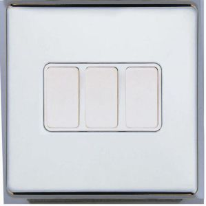 Screwless Range 3 Gang 2 Way Light Switch pictures & photos