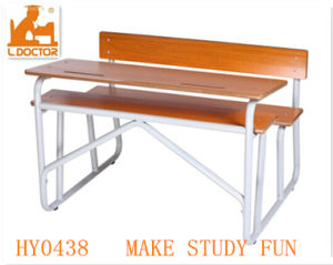 Modern Classroom Double Seats Furniture for College and High School pictures & photos