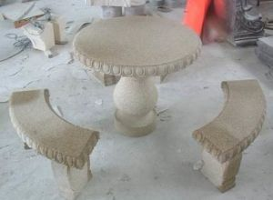 Stone Table and Chairs - Granite Table
