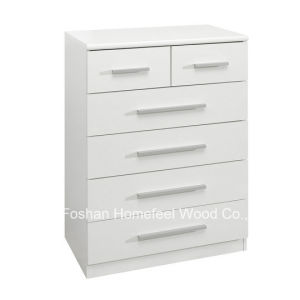 White High Gloss Bedroom 2+4 Drawers Storage Dresser (HC23) pictures & photos