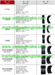 Heavy Duty Steel Brake Shoe 4656 pictures & photos
