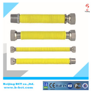 Yellow Ss Corrugated Flexible Natural Gas Hose pictures & photos