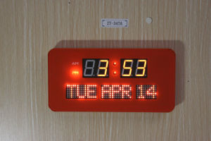 Dynamic Living Oversized Digital LED Calendar Wall Clock pictures & photos