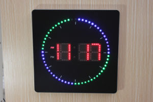 Square Digital LED Display Clock pictures & photos