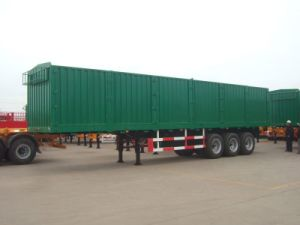 Cimc Steel Sheet Bulk Grain Semi-Trailer with Three Axles Truck Chassis pictures & photos