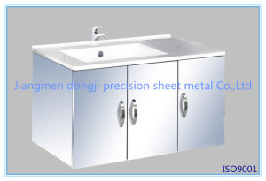 Hot Sale SUS304 Stainless Steel Bathroom Vanity Cabinet pictures & photos
