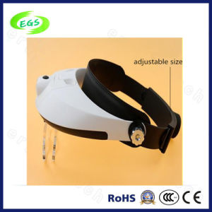 Fashion LED Headlight Magnifier Lamps, 1-3.5X Helmet Medical Magnifier (EGS-81004-G) pictures & photos