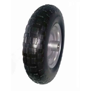 16 Inch Flat Free PU Wheel, Wheel Barrow Wheel