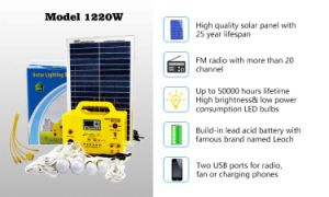 20W Solar Home Llighting System with LED Lamp pictures & photos