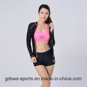 Women Sexy Long Sleeve Zip-up Top Track Suit Rash Guard pictures & photos