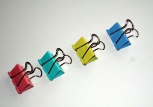 32 Mm(1-1/4 Inch) Colored Binder Clips (1303)