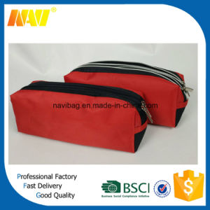 Nylon Designer Pencil Bag with Double Zipper