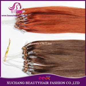 Micro Ring Hair Weft Extension Virgin Remy Human Brazilian Hair pictures & photos