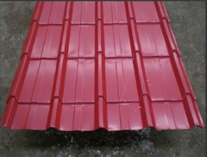 Bright Red Corrugated Steel Plate for Building Materials pictures & photos