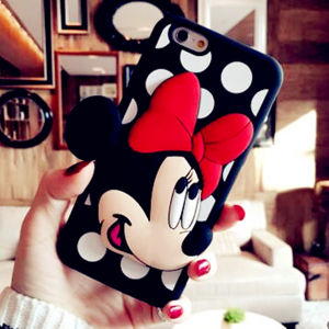 Cute Micky and Minnie Custom Silicone Phone Case pictures & photos