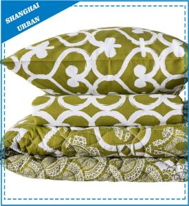 Green Heart-Shape Printed Polyester Quilt and Duvet Cover Set pictures & photos