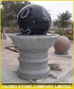 Black Granite Rotating Ball Water Fountain pictures & photos