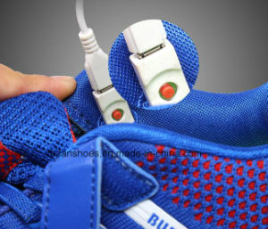 USB Charging Flyknit Shine LED Shoes Sport Shoes (FF830-1) pictures & photos
