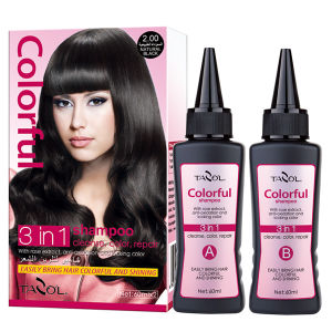 60ml*2 Dark Brown Hair Color Shampoo in 5 Minutes pictures & photos