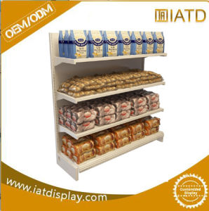 Multifunction Metal Display Rack with Wires and LED Board and Wood Base pictures & photos
