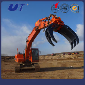 Fixed Mechanical Type Log Grapple Excavator Attachments pictures & photos