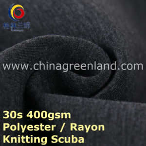 T/R Polyester Rayon Knitted Scuba Fabric for Garment Coat (GLLML396) pictures & photos