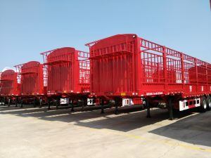 Utility Trailer 40-65t Stake Heavy Duty Cargo Semi Trailer